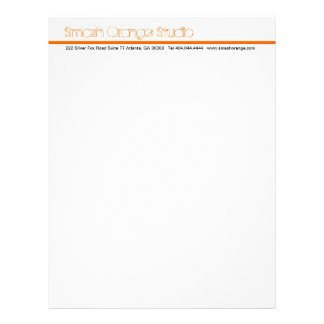 Classic Orange Divider Letterhead 3