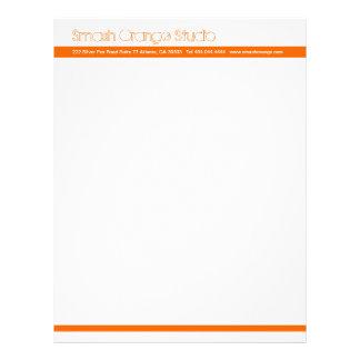 Classic Orange Divider Letterhead 4