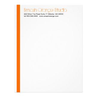 Classic Orange Divider Letterhead 5