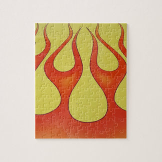 Classic orange flames and yellow background jigsaw puzzle