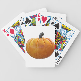Classic Orange Pumpkin Bicycle Playing Cards
