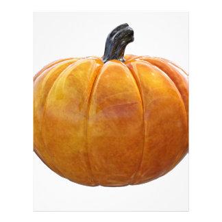 Classic Orange Pumpkin Letterhead Design