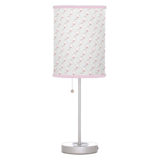 Classic oriental japanese camellia flower pattern table lamp