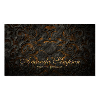 Classic Ornament Gold Fashion Designer Card Business Card