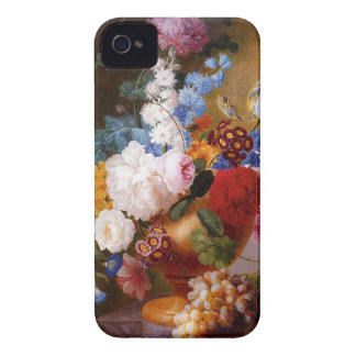Classic painting of roses tulips & peonies flowers iPhone 4 case
