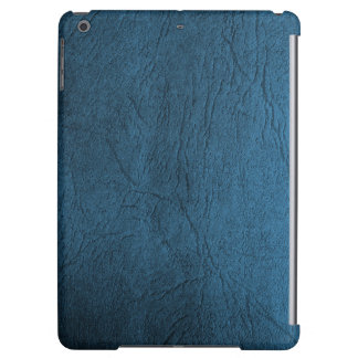 Classic Pale Blue Leather Print iPad Air Cases