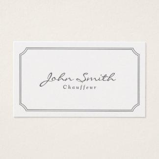 Classic Pearl White Chauffeur Business Card