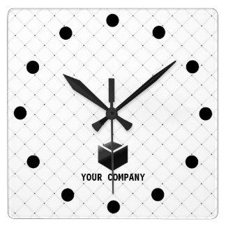 Classic personalized and editable company branding wallclocks