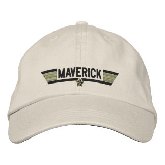 Classic Personalized Top Gun Maverick or Your Text Embroidered Hat