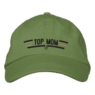 Classic Personalized Top Gun Mom Wings or My Text Embroidered Hat
