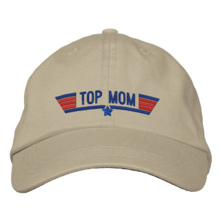 Classic Personalized Top Gun Mom Wings Your Text Embroidered Baseball Caps