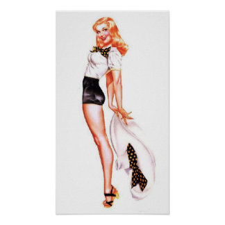 Classic Pin Up Model Poster