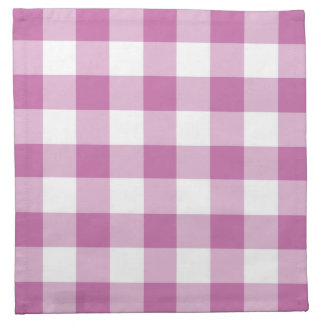 Classic Pink and White Gingham Checked Pattern Napkin