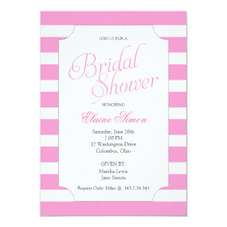 Classic Pink Bridal Shower Party Invitation