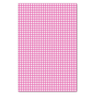 Classic Pink Gingham Tissue Paper