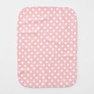 classic pink polka baby burp cloths