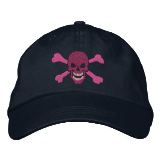 Classic Pirate Crossbones Skull Embroidery Embroidered Hat