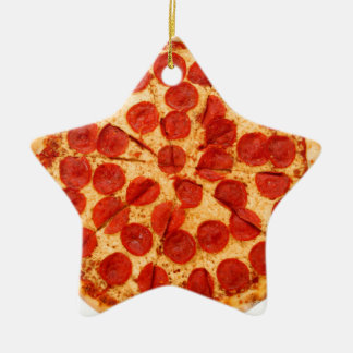 classic pizza lover ceramic ornament