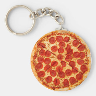 classic pizza lover keychain