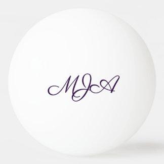 Classic Play   Custom Calligraphy Monogram Initial Ping Pong Ball