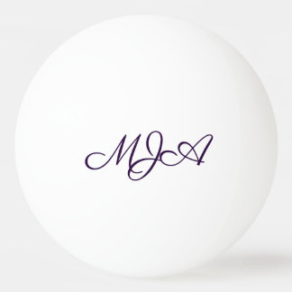 Classic Play | Custom Script Monogram Initials | Ping Pong Ball