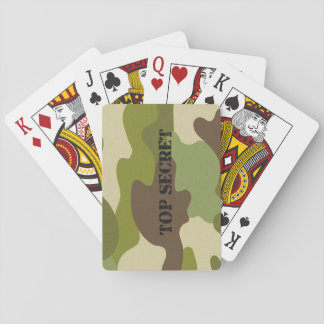 Classic Playing Cards camouflage top secret