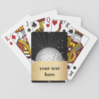 Classic Playing Cards, glitter disco ball Playing Cards
