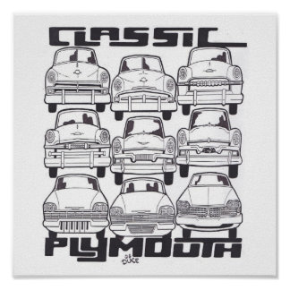 CLASSIC PLYMOUTH POSTER
