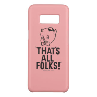 "Classic Porky Pig ""That's All Folks!"" Case-Mate Samsung Galaxy S8 Case"