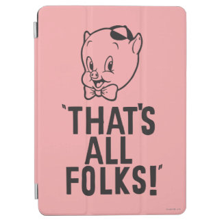 "Classic Porky Pig ""That's All Folks!"" iPad Air Cover"