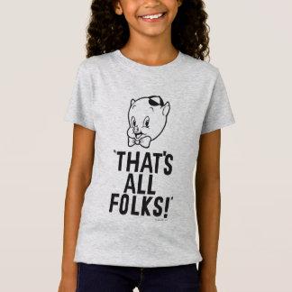 "Classic Porky Pig ""That's All Folks!"" T-Shirt"