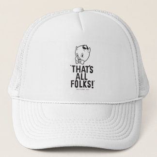 "Classic Porky Pig ""That's All Folks!"" Trucker Hat"