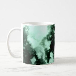 Classic Pretty Designer Mug Clouds Green