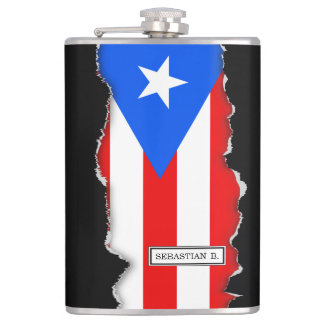 Classic Puerto Rican Flag Flask