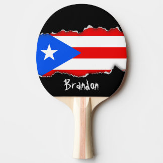 Classic Puerto Rican Flag Ping Pong Paddle