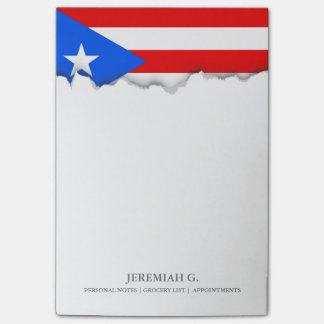 Classic Puerto Rican Flag Post-it Notes