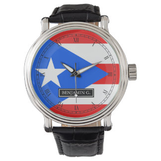 Classic Puerto Rican Flag Watch