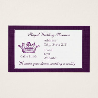 Classic Purple Crown Business Card