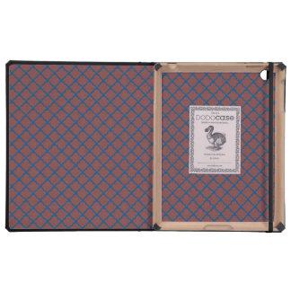 Classic Quatrefoil Brick Red and Blue iPad Covers