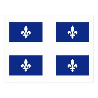 Classic Quebec Provincial Flag Postcard
