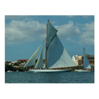 Classic Racing Yacht Postcard