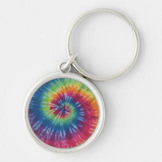 Classic Rainbow Tie Dye Swirl Keychain