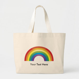 Classic Rainbow Totes- Custom, Personalized Large Tote Bag