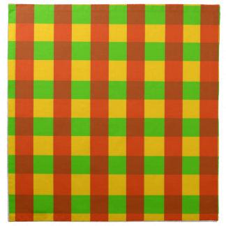 Classic Rasta Gingham Pattern Napkins