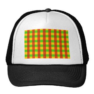 Classic Rasta Gingham Pattern Trucker Hat