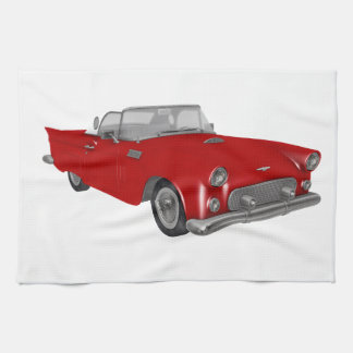 Classic Red 50's Car Kitchen Towel