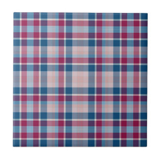Classic Red and Blue Plaid Tile