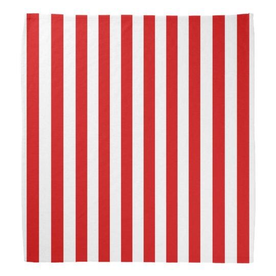 Classic Red and White Stripe Pattern Bandana