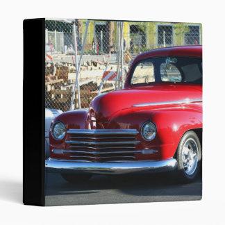 Classic Red Car binder