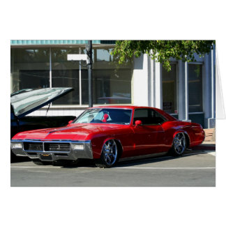 Classic red car card